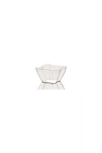 Verrine carrée ondulée - Elika - 250ml