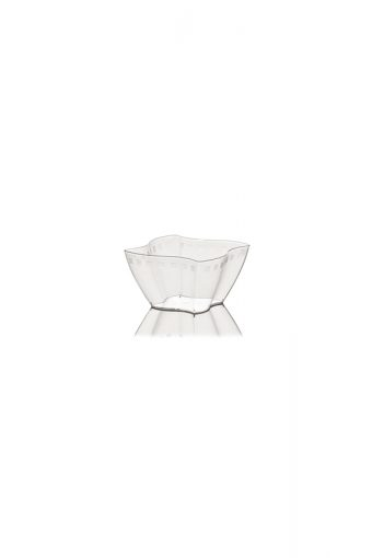 Verrine carrée ondulée - Elika - 350ml