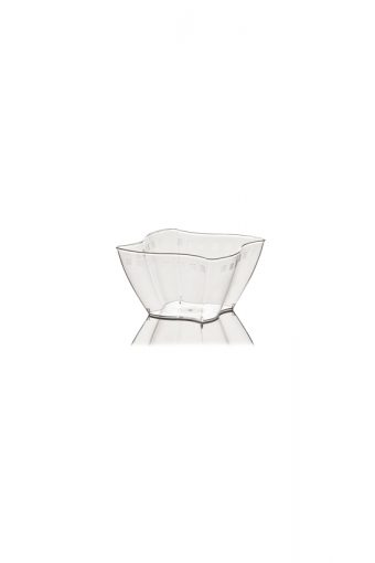 Verrine carrée ondulée - Elika - 550ml