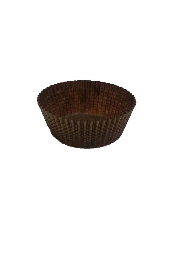 caissette en papier rond 6 brun et or brown gold paquet de 2000 abc emballuxe. Black Bedroom Furniture Sets. Home Design Ideas